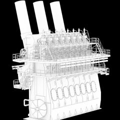 Ship Engine - Lineart